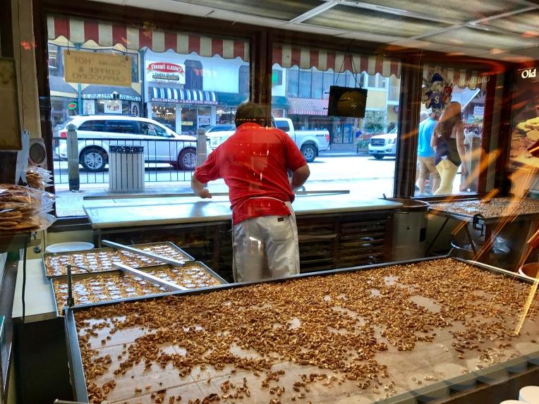 candy maker through store window